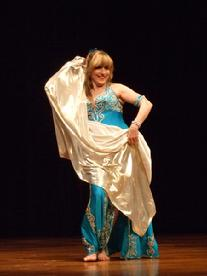 Artemis performs a traditional Turkish Romany dance at the Baltimore Museum of Art for Belly Dance Magic 2007 333