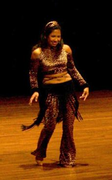 Rowena dances Piper's Stray Cat choreography at Belly Dance Magic 2007