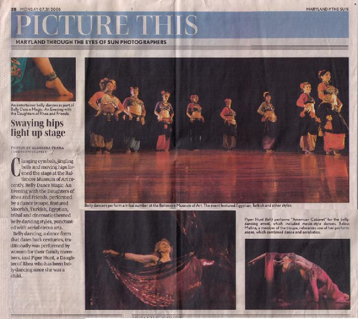 Belly Dance Magic reviewed in the Baltimore Sun