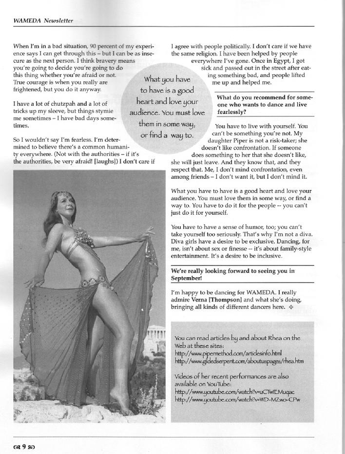 Article about Rhea in the September 2007 issue of WAMEDA 3